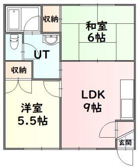 リバーシティ-101号室間取図