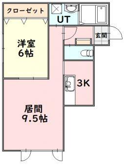 メティオ-202号室間取図