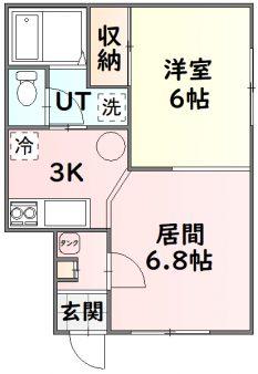 旭川市永山 パープルハイツ102号室間取図