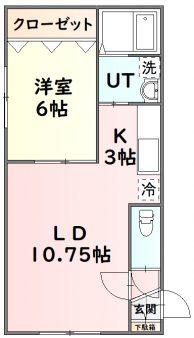 旭川市大町|タービュランス A101号室間取図